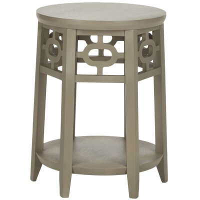 Adela End Table Color: Pearl Taupe