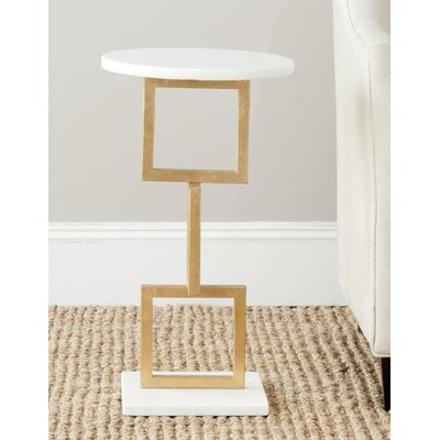 Cassidy End Table Color: Gold /  White