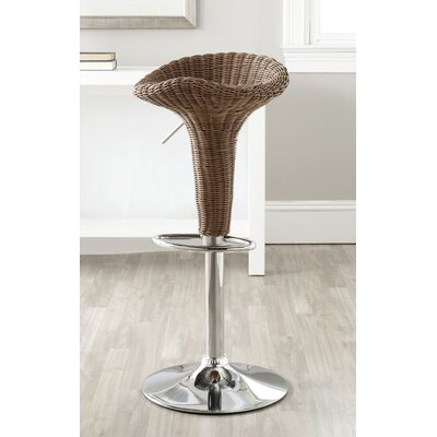 Moesha Adjustable Height Swivel Bar Stool