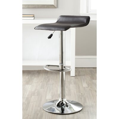Sheba Adjustable Height Swivel Bar Stool Upholstery: Brown
