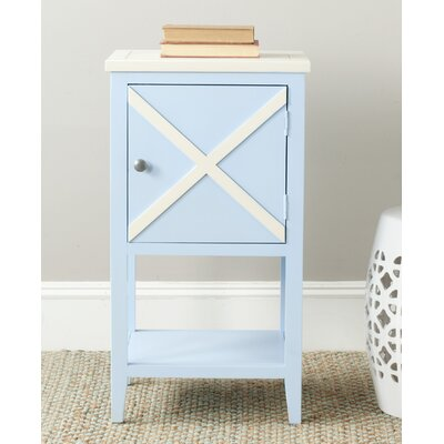 Ward End Table Color: Light Blue / Cream