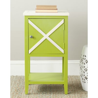 Ward End Table Finish: Green / Cream