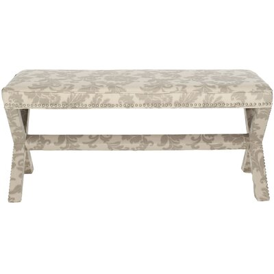 Melanie Upholstered Bedroom Bench Color: Taupe