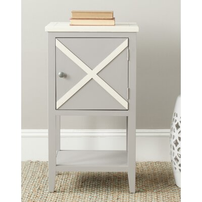 Ward End Table Color: Grey / Cream