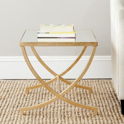Colvin Mirrored End Table