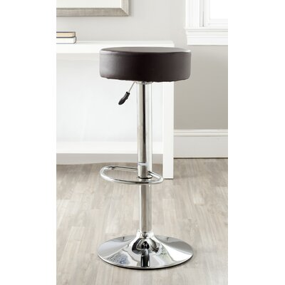 Jude Adjustable Height Swivel Bar Stool Color: Brown
