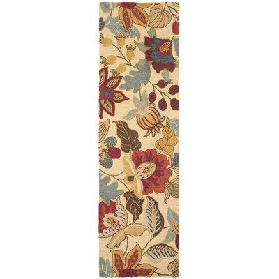 Jardin Beige/Multi Floral Area Rug Rug Size: Runner 23 x 8