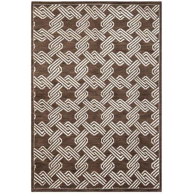 Mosaic Brown / Creme Geometric Rug Rug Size: 5' x 8'