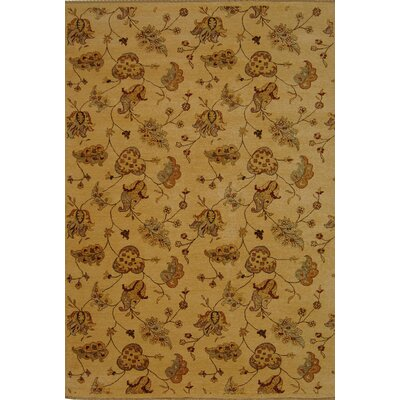 Agra Beige Area Rug Rug Size: Rectangle 6 x 9