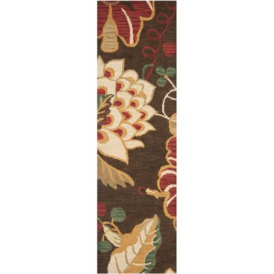 Jardin Brown/Multi Floral Area Rug Rug Size: Runner 23 x 8