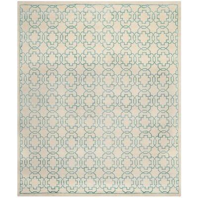 Mosaic Cream / Aqua Rug Rug Size: 8 x 10