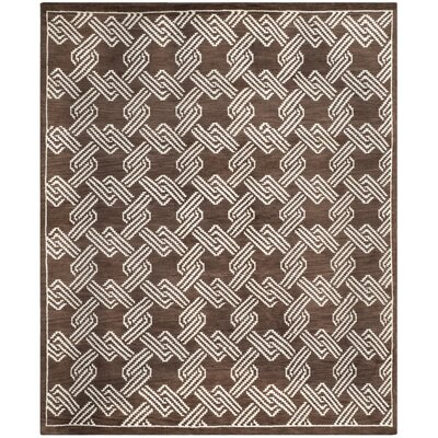 Mosaic Brown / Creme Geometric Rug Rug Size: Rectangle 8 x 10