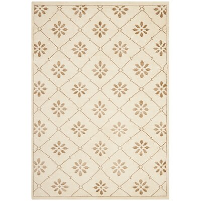 Mosaic Cream / Light Brown Rug Rug Size: 5 x 8