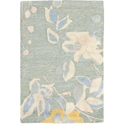 Jardin Silver / Blue Floral Rug Rug Size: 8 x 10