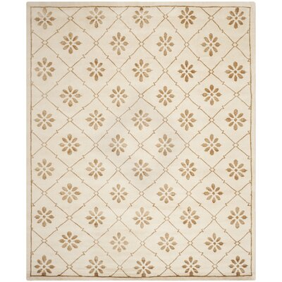 Mosaic Cream / Light Brown Rug Rug Size: 8 x 10