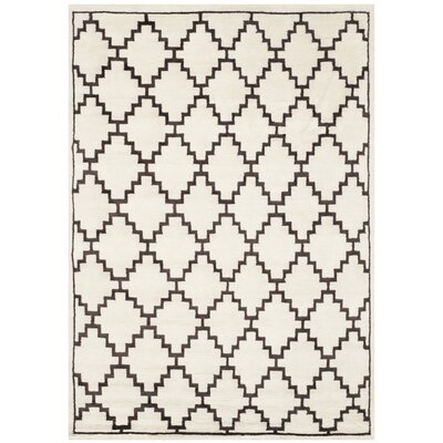 Mosaic Beige / Charcoal Geometric Rug Rug Size: Rectangle 9 x 12