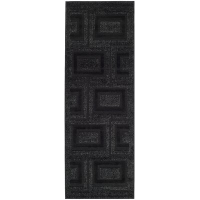 York Charcoal Area Rug Rug Size: Runner 24 x 67