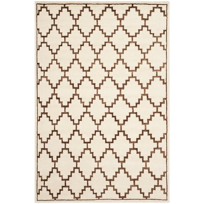 Mosaic Ivory / Brown Geometric Rug Rug Size: Rectangle 9 x 12