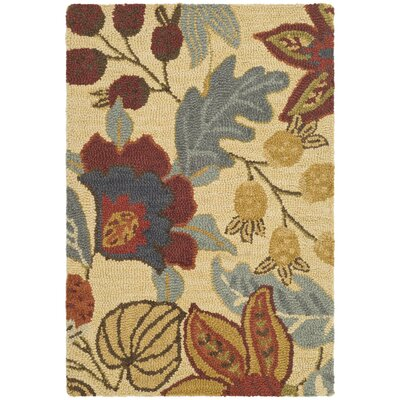 Jardin Beige/Multi Area Rug Rug Size: Rectangle 3 x 5