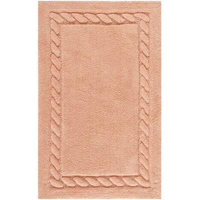 Newthorpe Bath Rug Size: 21 W x 34 L, Color: Peach