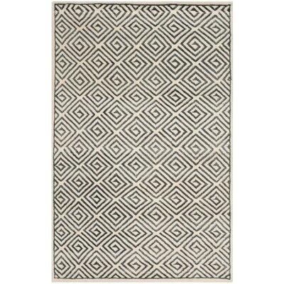 Mosaic Ivory / Grey Geometric Rug Rug Size: 8 x 10