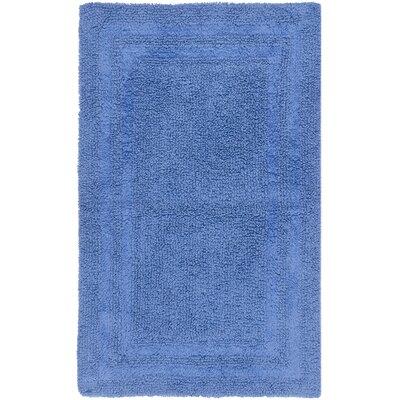 Plush Master Bath Rug V Color: Lapis Lazuli