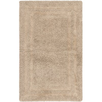 Plush Master Bath Rug V Color: Craft Brown
