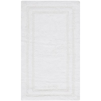 Plush Master Bath Rug V Color: True White
