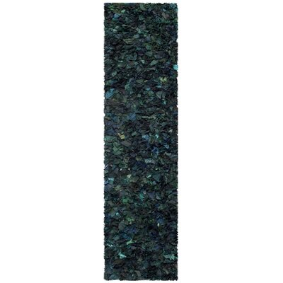 Messiah Green Shag Area Rug Rug Size: Runner 23 x 6