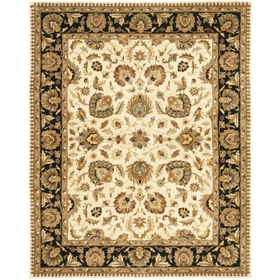 Royalty Beige / Black Rug Rug Size: 8 x 10