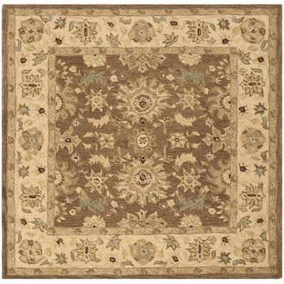 Anatolia Brown/Beige Area Rug Rug Size: Square 6'