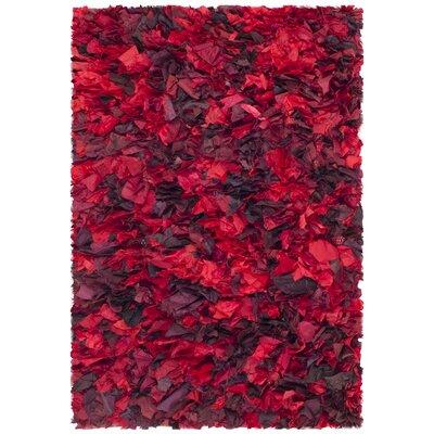 Red Shag Rug Rug Size: 2'6