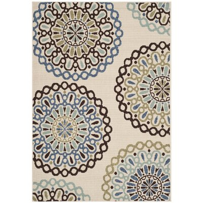 Henderson Beige Indoor/Outdoor Area Rug Rug Size: 53 x 77