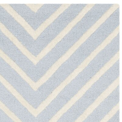 Weybridge Hand Woven Wool Light Blue/Ivory Area Rug Rug Size: Runner 26 x 22