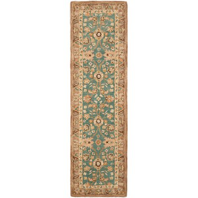 Anatolia Teal/Camel Area Rug Rug Size: Runner 23 x 8