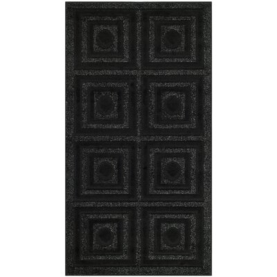 York Black Area Rug Rug Size: Rectangle 27 x 5