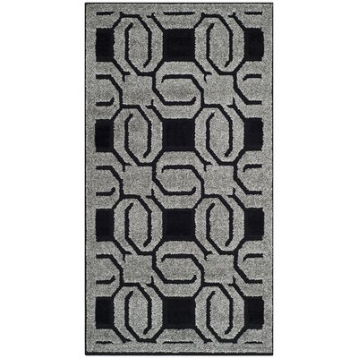 York Grey / Black Rug Rug Size: Rectangle 27 x 5