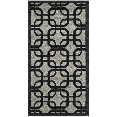 York Gray/ Black Area Rug Rug Size: Square 67 x 67