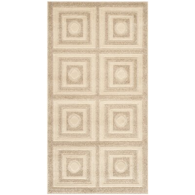 York Cream/Beige Area Rug Rug Size: Rectangle 27 x 5