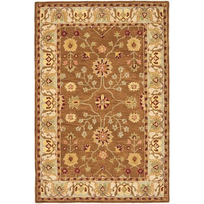 Anatolia Tan/Ivory Area Rug Rug Size: Rectangle 3 x 5