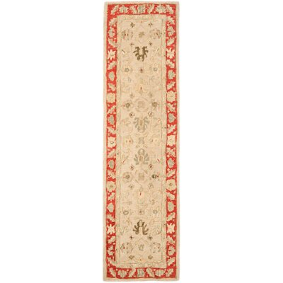 Anatolia Taupe/Red Indoor Area Rug Rug Size: Runner 23 x 8
