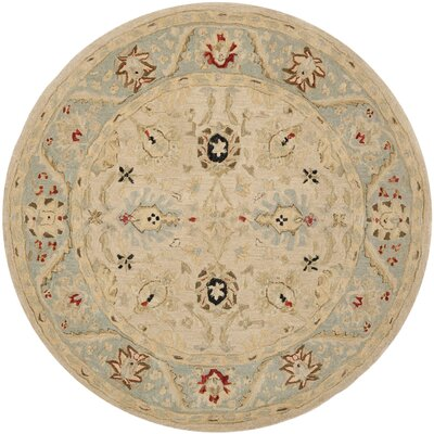 Anatolia Natural/Soft Turquoise Area Rug Rug Size: Rectangle 9 x 12