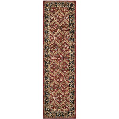 Anatolia Red Area Rug Rug Size: Runner 23 x 12