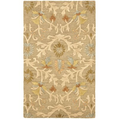 Parker Lane Hand-Tufted Wool Moss/Beige Area Rug Rug Size: Rectangle 3 x 5