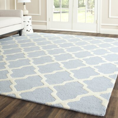 Sugar Pine Hand-Tufted Blue/Ivory Area Rug Rug Size: Rectangle 4 x 6
