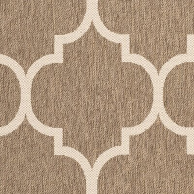 Short Brown Indoor/Outdoor Area Rug Rug Size: Round 4