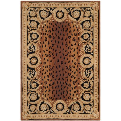 Naples Brown Area Rug Rug Size: Rectangle 2 x 3
