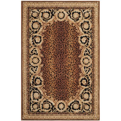 Naples Brown Area Rug Rug Size: 2'6