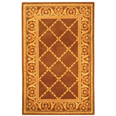Naples Assorted Brown Area Rug Rug Size: 5 x 8
