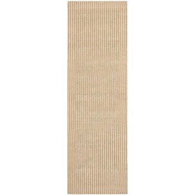 Heyburn Ivory/Beige Area Rug Rug Size: Runner 26 x 8